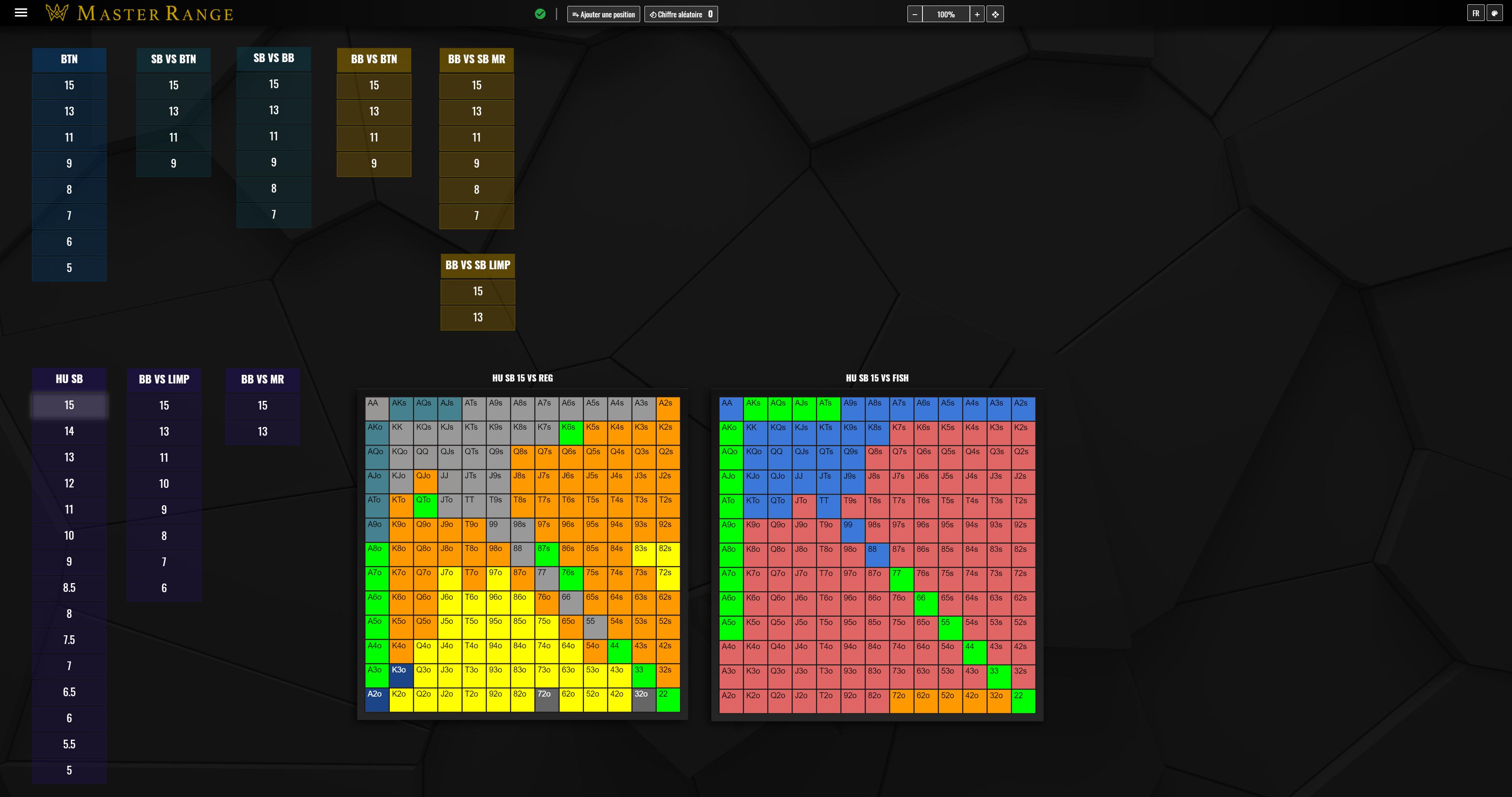 Master Range software screenshot